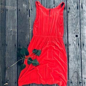 J. Crew Dresses - J. Crew Coral Pink Sleeveless Dress Gathered Waist